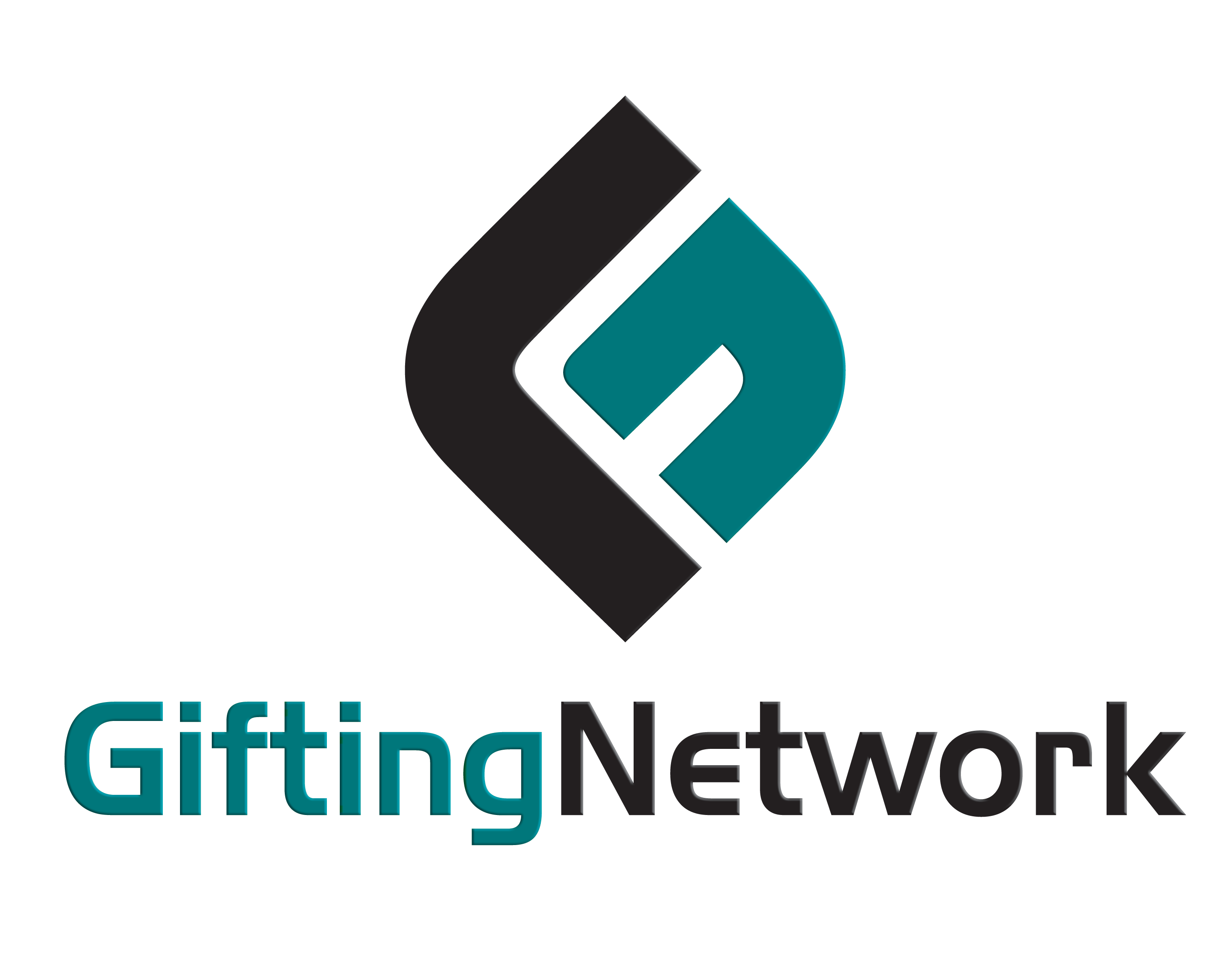 Cropped Gifting Network Teal Png